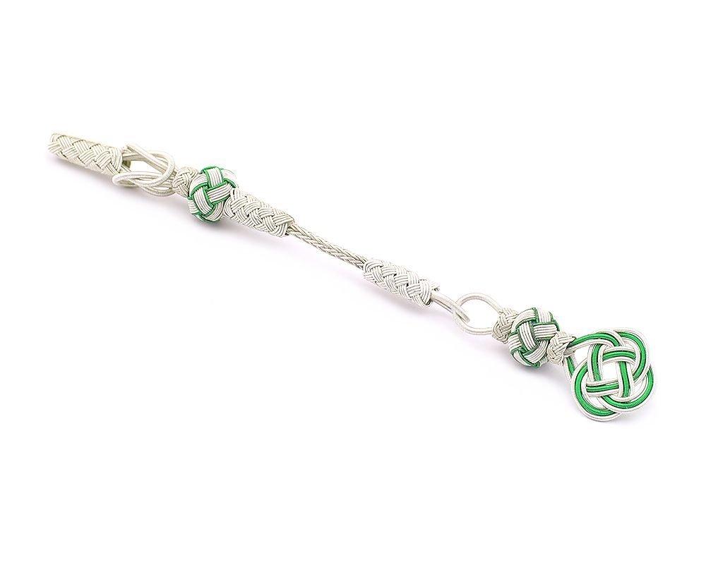 Yeşil-Beyaz Renk 1000 Ayar Gümüş Kazaz Püskül