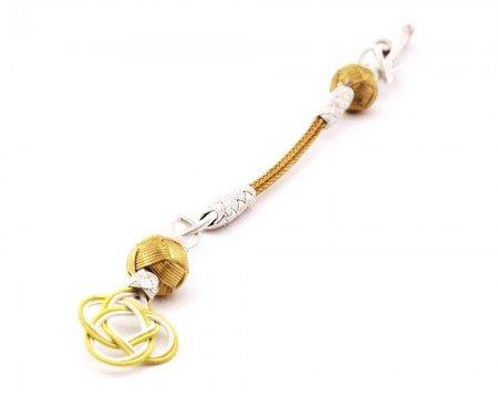 Gold-Beyaz Renk 1000 Ayar Gümüş Kazaz Püskül - Thumbnail