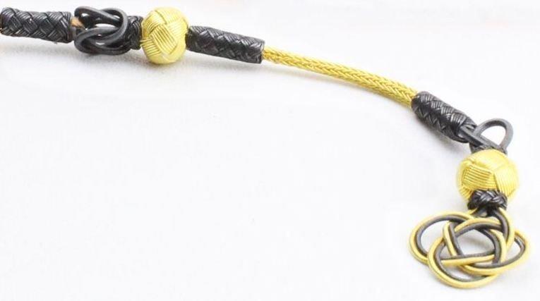 Gold-Gri Renk 1000 Ayar Gümüş Kazaz Püskül (M-2)