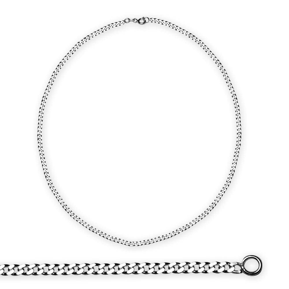 925 Ayar Gümüş 50 cm 60 Mikron Gurmet Gümüş Erkek Zincir Kolye
