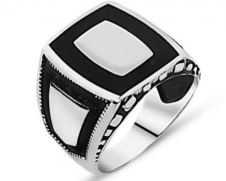 925 Ayar Desenli Gümüş Yüzük (model 5) - Thumbnail