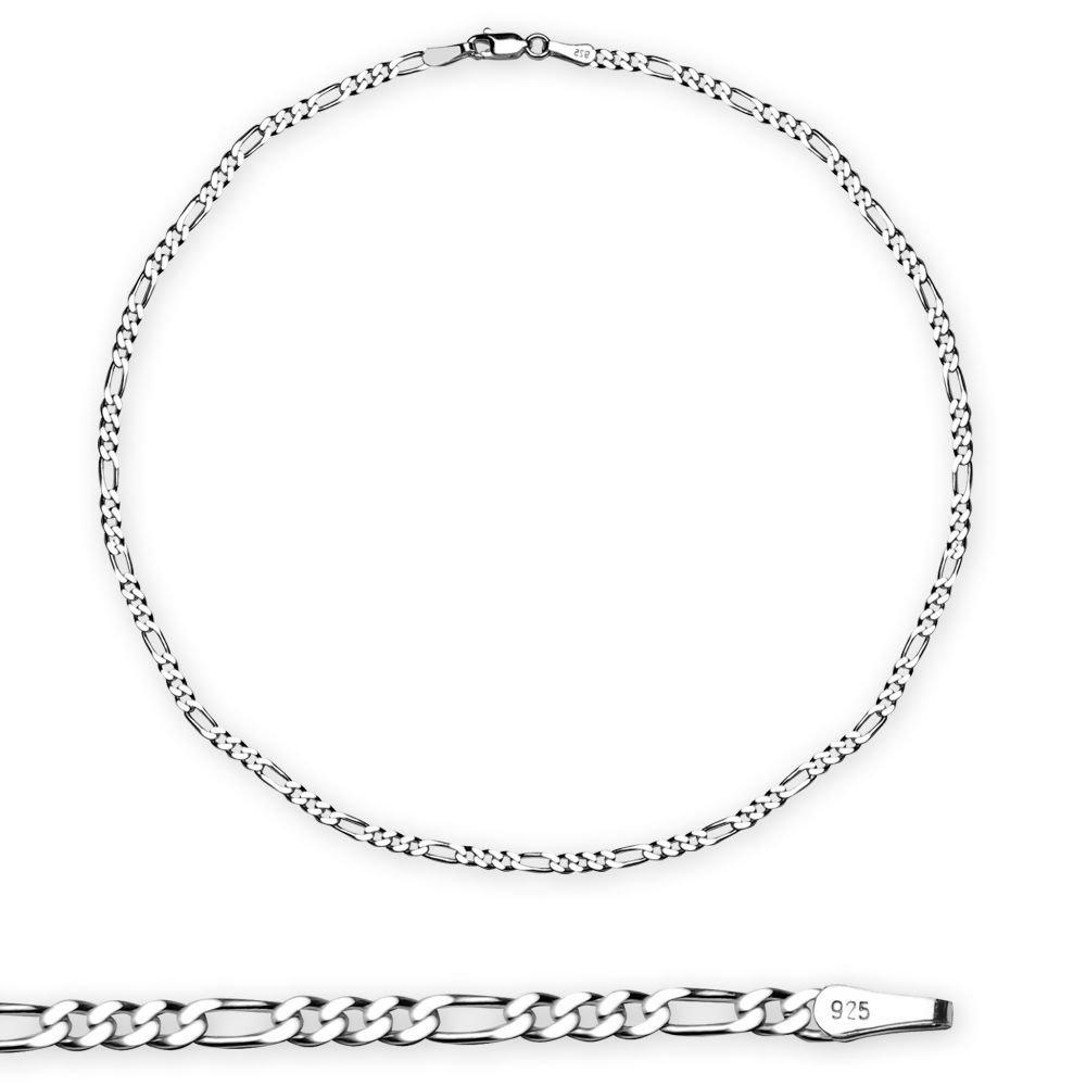 925 Ayar Gümüş 50 cm 100 Mikron Figaro Erkek Zincir Kolye