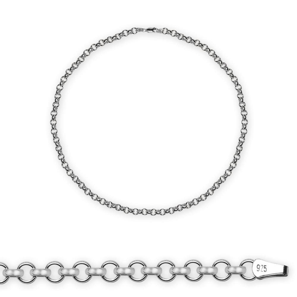 925 Ayar Gümüş 50cm 80 Mikron Doç Erkek Zincir Kolye