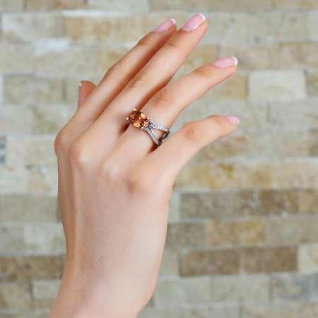 925 Ayar Gümüş Zultanit Taşlı Bayan Yüzük - Thumbnail