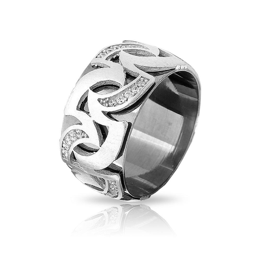 Alev Tasarım Zirkon Taşlı 925 Ayar Gümüş Bayan Alyans