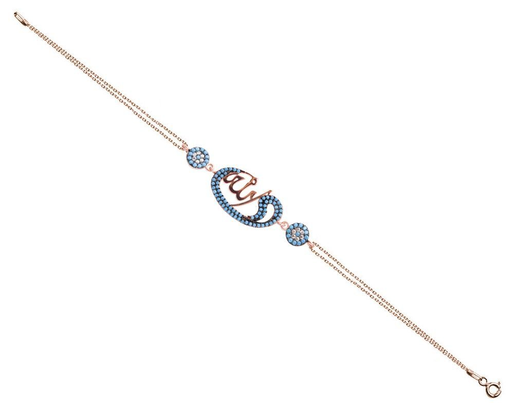 925 Ayar Gümüş Allah Yazılı Elif Vav Tasarım Bileklik (model 2)