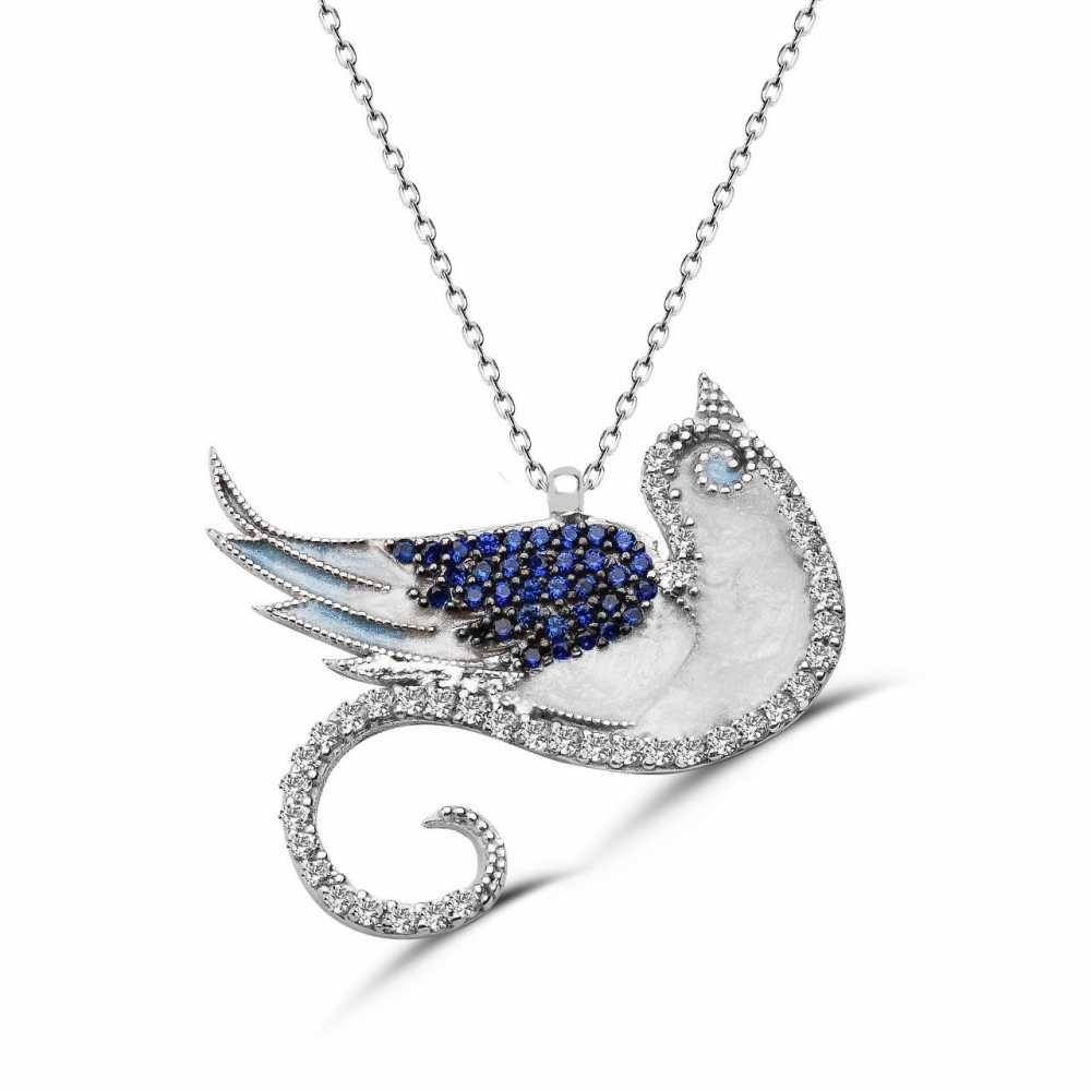 925 Ayar Gümüş Anka Kuşu Kolye