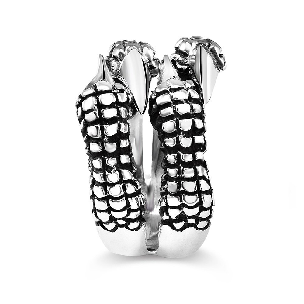 Ayarlanabilen Ölçülü Pençe Tasarım 925 Ayar Gümüş Erkek Yüzük