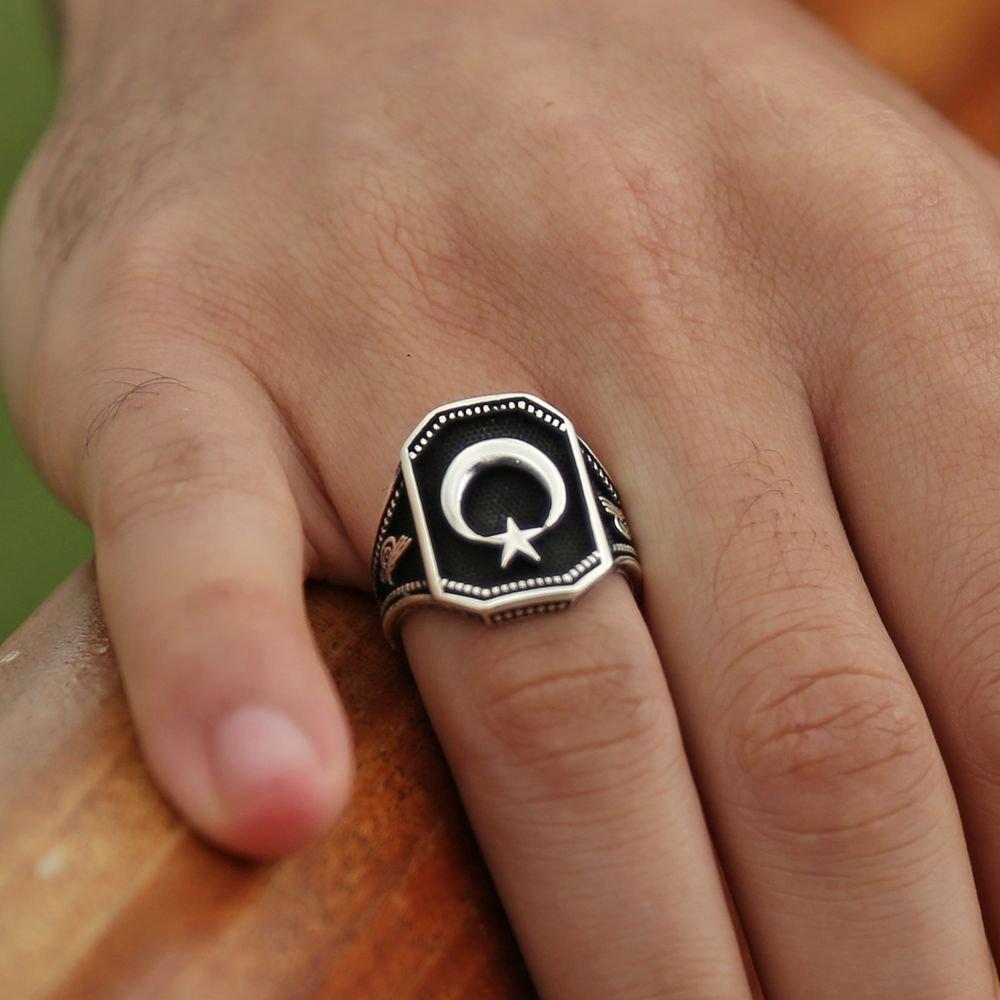 925 Ayar Gümüş Ayyıldız Yüzüğü