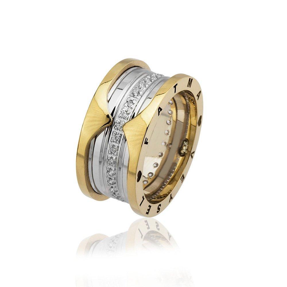 İsim Yazılı Zirkon Taşlı Özel Tasarım 925 Ayar Gümüş Bayan Alyans