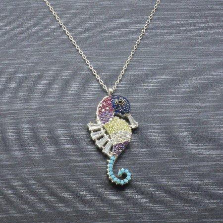 925 Ayar Gümüş Bayan Kolye (Model-21) - Thumbnail