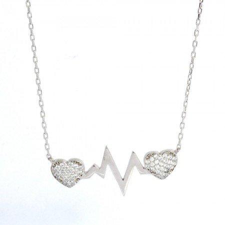 925 Ayar Gümüş Bayan Kolye (Model-32) - Thumbnail