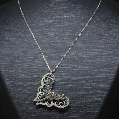 925 Ayar Gümüş Bayan Kolye (Model-39) - Thumbnail