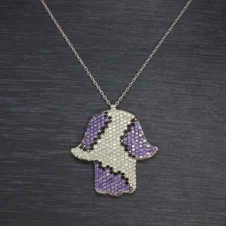 925 Ayar Gümüş Bayan Kolye (Model-44) - Thumbnail