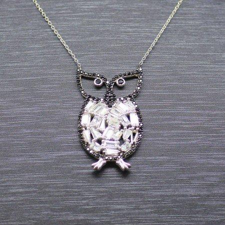 925 Ayar Gümüş Bayan Kolye (Model-49) - Thumbnail