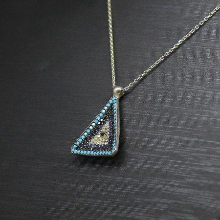 925 Ayar Gümüş Bayan Kolye (Model-62) - Thumbnail