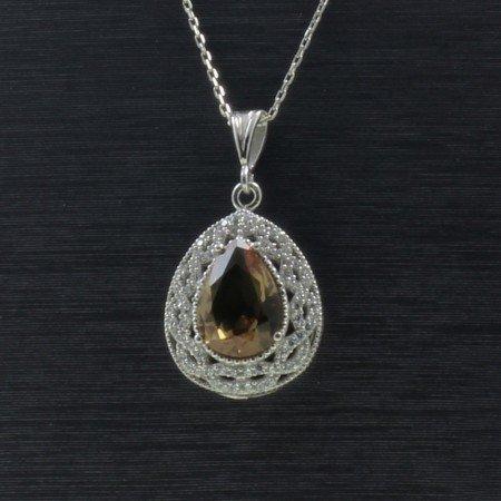 925 Ayar Gümüş Bayan Kolye (Model-80) - Thumbnail