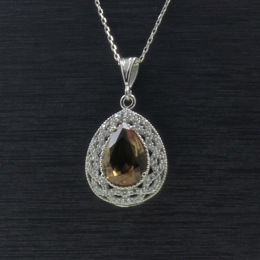 925 Ayar Gümüş Bayan Kolye (Model-80)