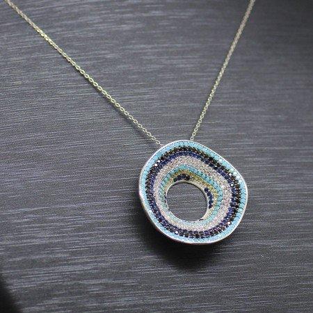 925 Ayar Gümüş Bayan Kolye (Model-9) - Thumbnail