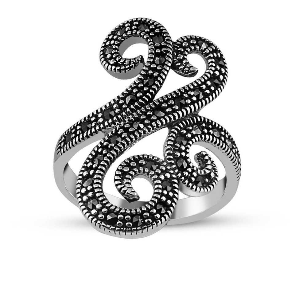 925 Ayar Gümüş Bayan Sarmaşık Yüzük