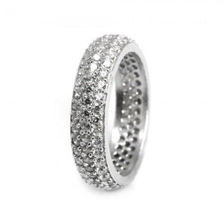 925 Ayar Gümüş Bayan Yüzük (Model-103) - Thumbnail