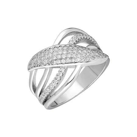 925 Ayar Gümüş Zirkon Taşlı 4 Sıra Bayan Yüzük - Thumbnail