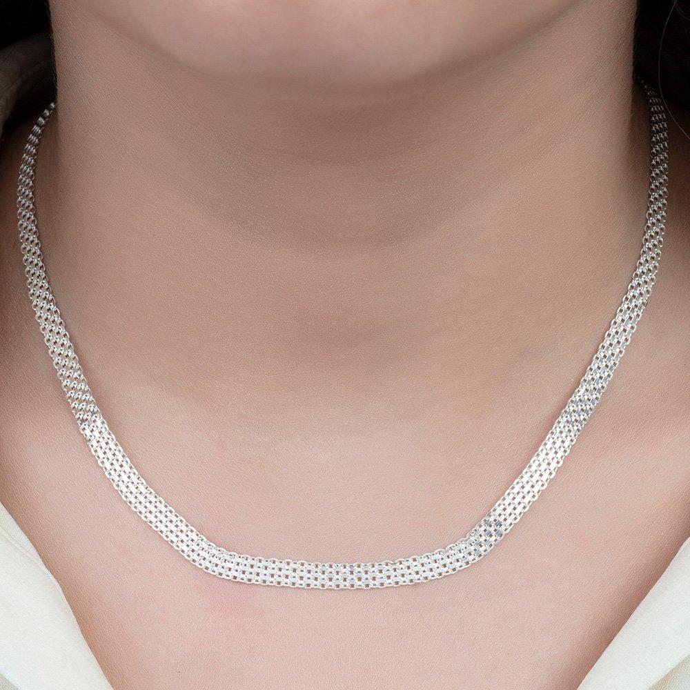 925 Ayar Gümüş Bismark Bayan Zincir Kolye