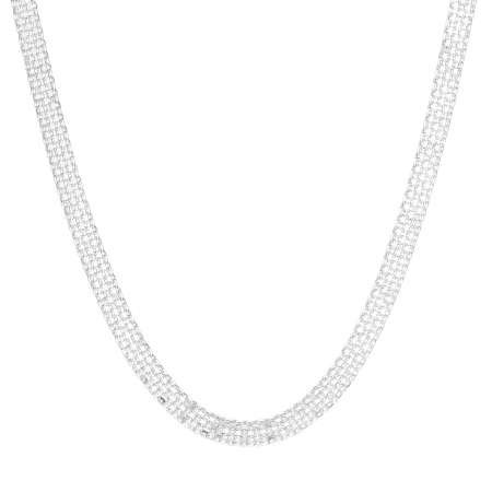 925 Ayar Gümüş Bismark Bayan Zincir Kolye - Thumbnail