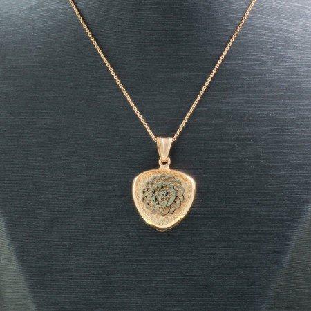 925 Ayar Gümüş Çift Taraflı Bayan Kolye (Model-93) - Thumbnail
