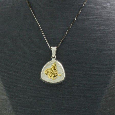925 Ayar Gümüş Çift Taraflı Bayan Kolye (Model-94) - Thumbnail