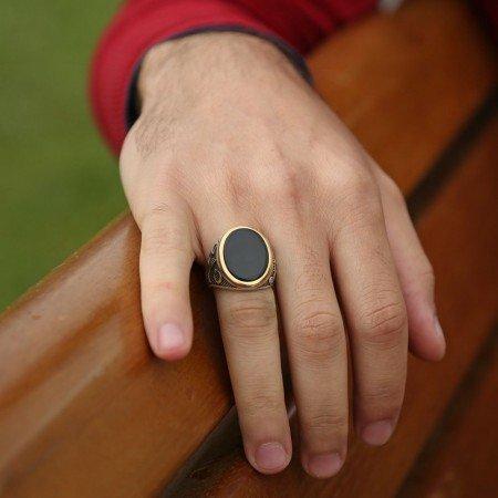 925 Ayar Gümüş Cihangir Yüzüğü - Thumbnail