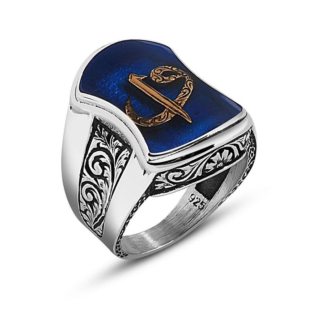 925 Ayar Gümüş Elif Vav Yazılı Aheng Yüzük