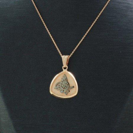 925 Ayar Gümüş Esmaül Hüsna Yazılı Çift Taraflı Bayan Kolye (Model-90) - Thumbnail