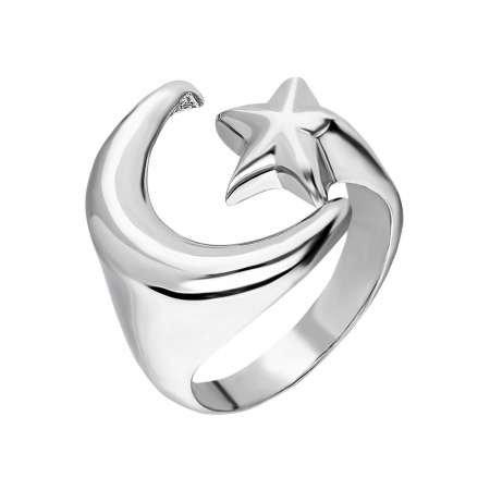 925 Ayar Gümüş Ayyıldız Tasarım Bayan Yüzük - Thumbnail