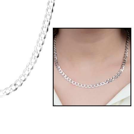 925 Ayar Gümüş Gurmet Bayan Zincir Kolye - Thumbnail