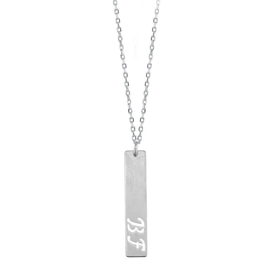 925 Ayar Gümüş Harf Yazılı Model Kolye