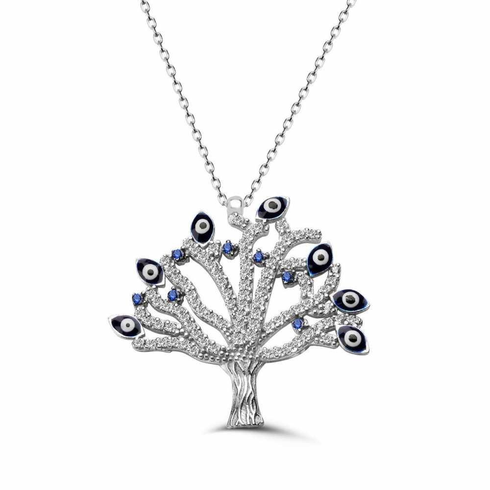 925 Ayar Gümüş Hayat Ağacı Kolye