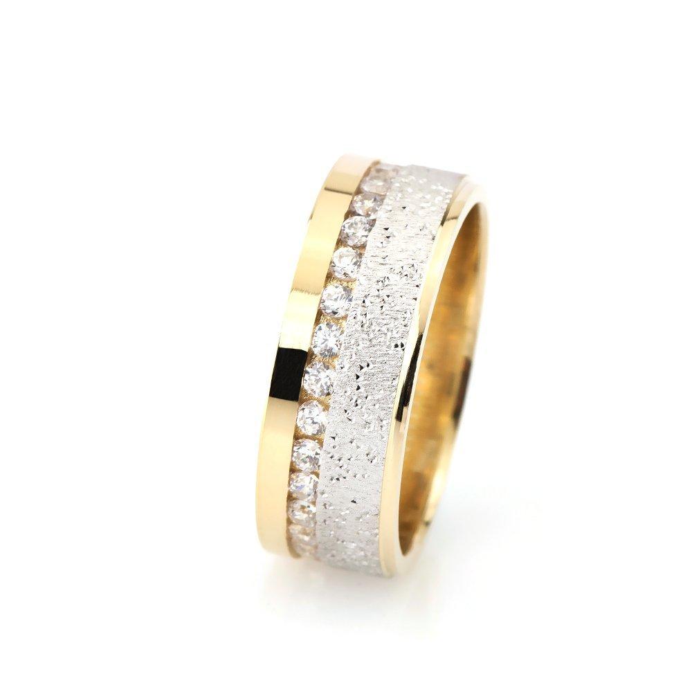 Işıltılı Model Zirkon Taşlı 925 Ayar Gümüş Bayan Alyans