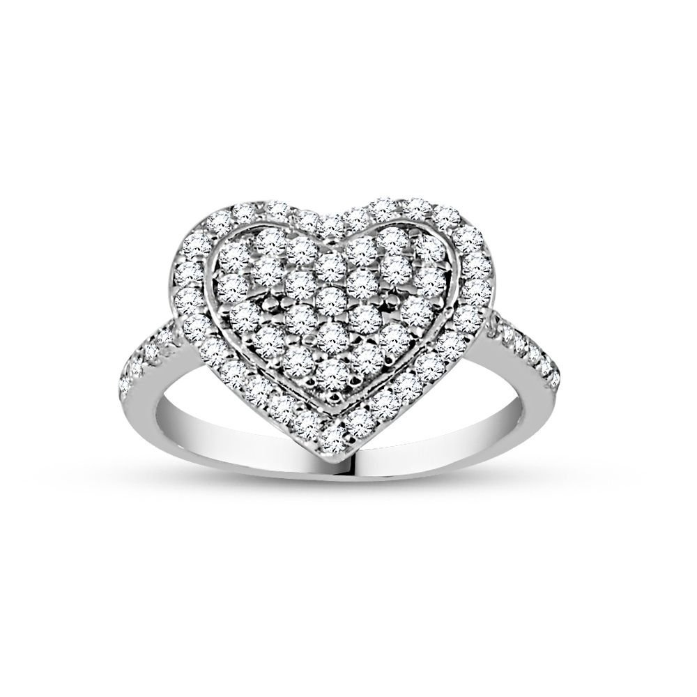 925 Ayar Gümüş Kalbim Bayan Yüzük