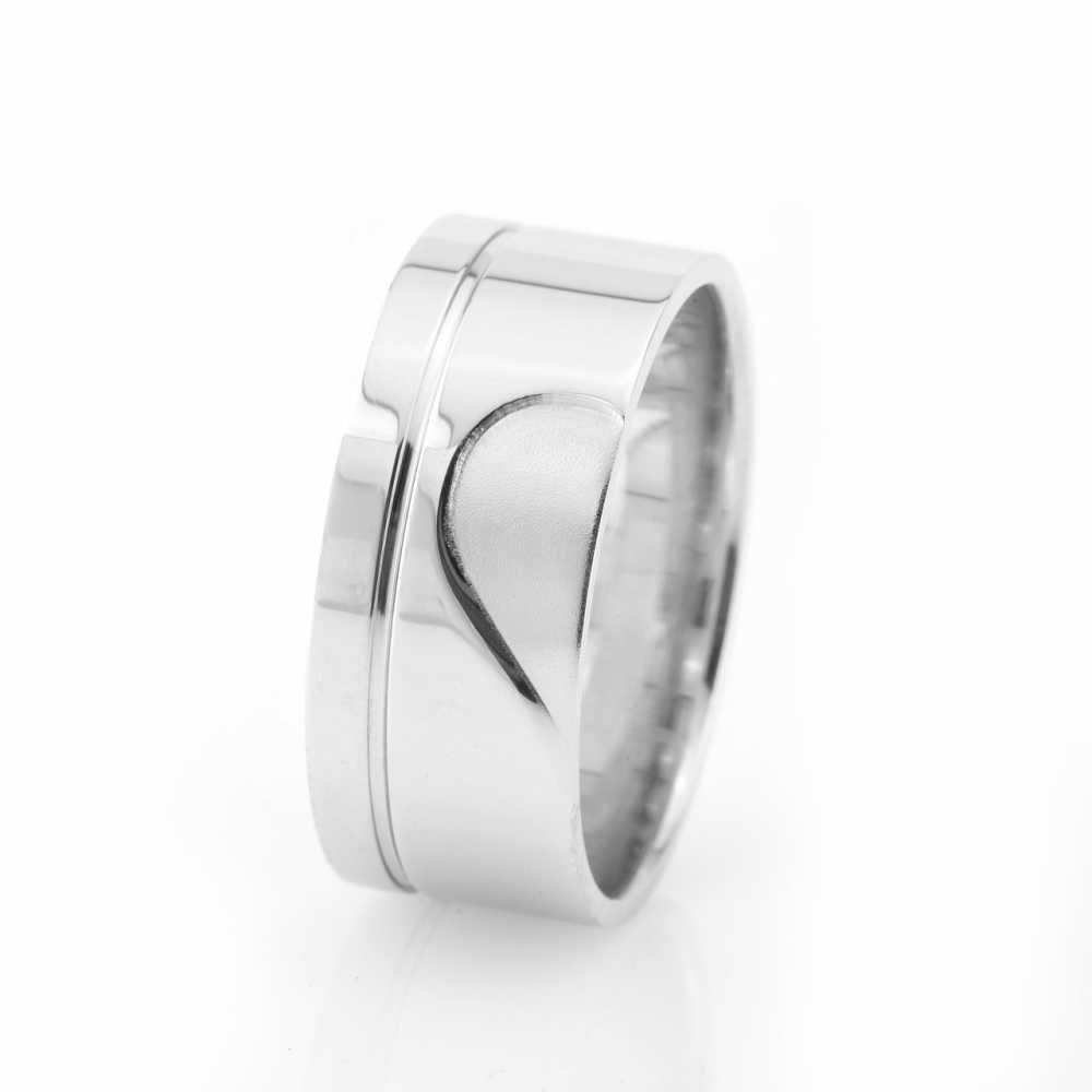 Kalbimin Sahibi Tasarım 925 Ayar Gümüş Erkek Alyans