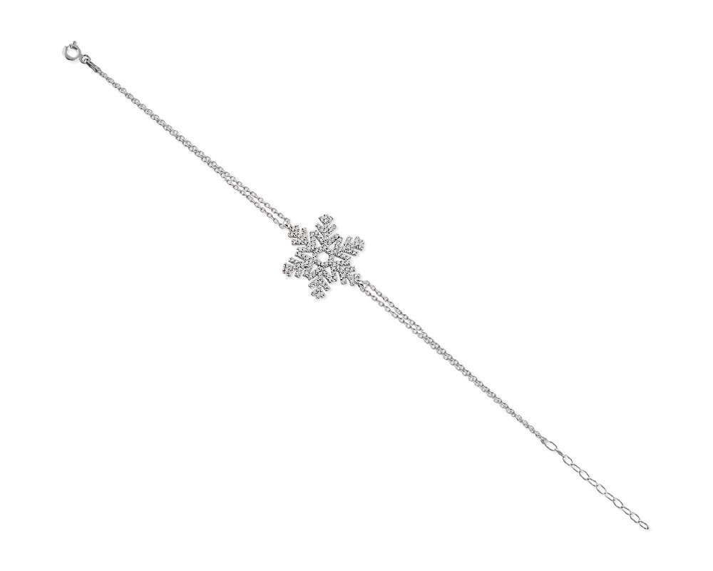 925 Ayar Gümüş Kar Tanesi Bileklik (Model-2)