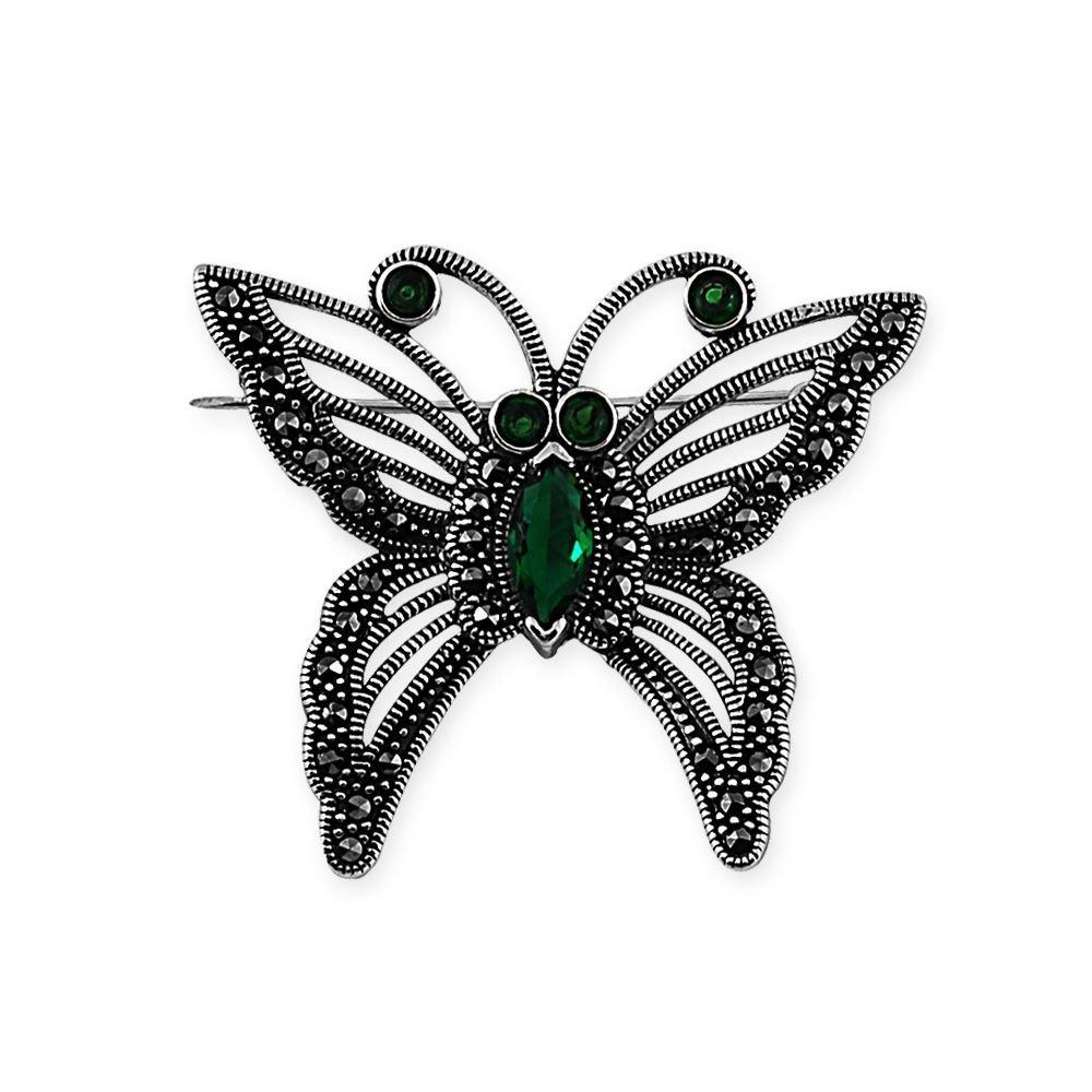 925 Ayar Gümüş Kelebek Broş