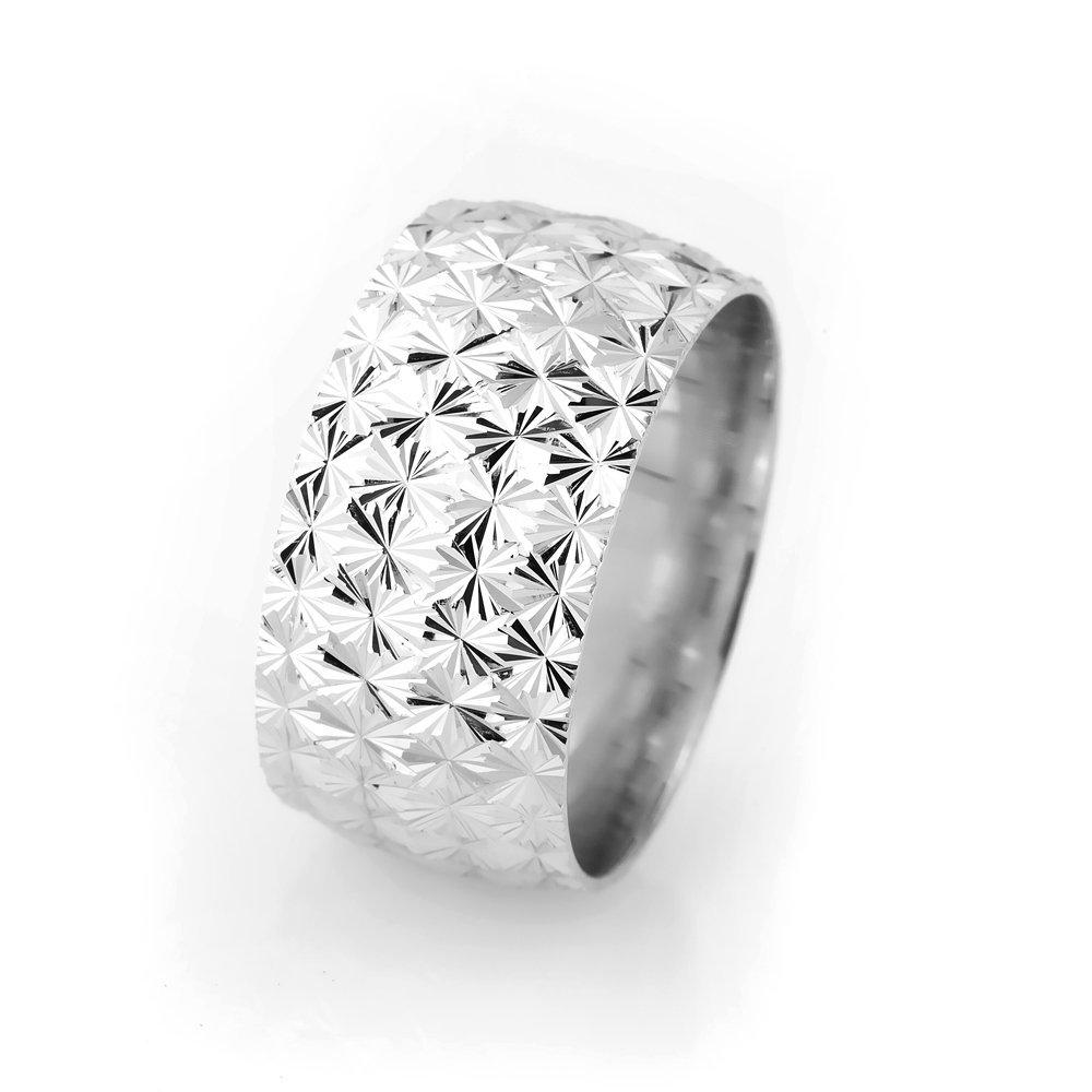 Kutup Yıldızı Tasarım Bombeli 925 Ayar Gümüş Bayan Alyans