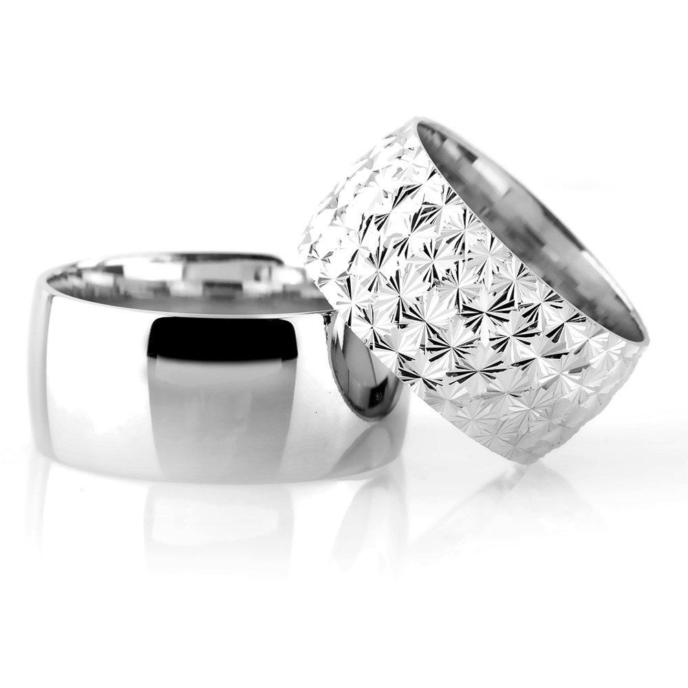 Klasik Model Kutup Yıldızı Tasarım 925 Ayar Gümüş Çift Alyans