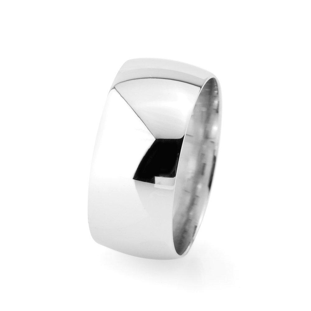 Klasik Tasarım Bombeli 925 Ayar Gümüş Erkek Alyans (M-4)