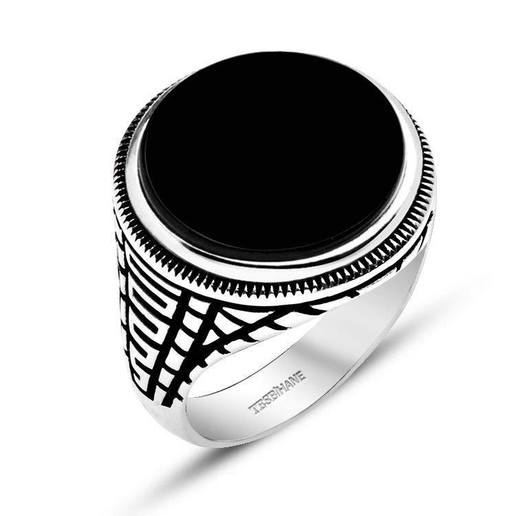 925 Ayar Gümüş Kristal Taşlı Oval Model Yüzük