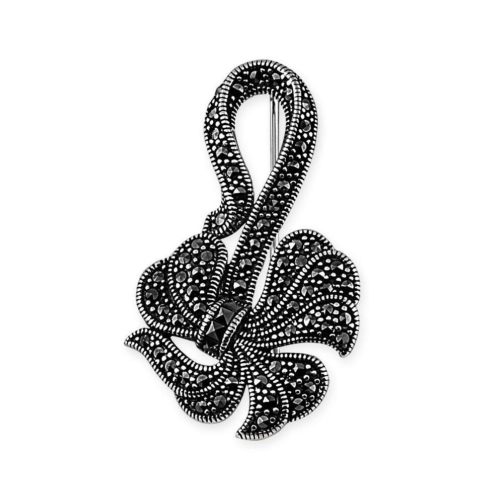 925 Ayar Gümüş Kurdale Figürlü Broş
