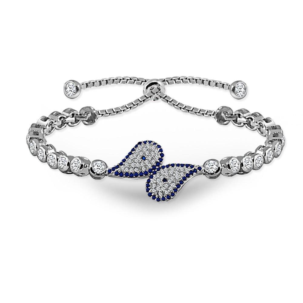 925 Ayar Gümüş Mavi Zirkon Taşlı Bileklik