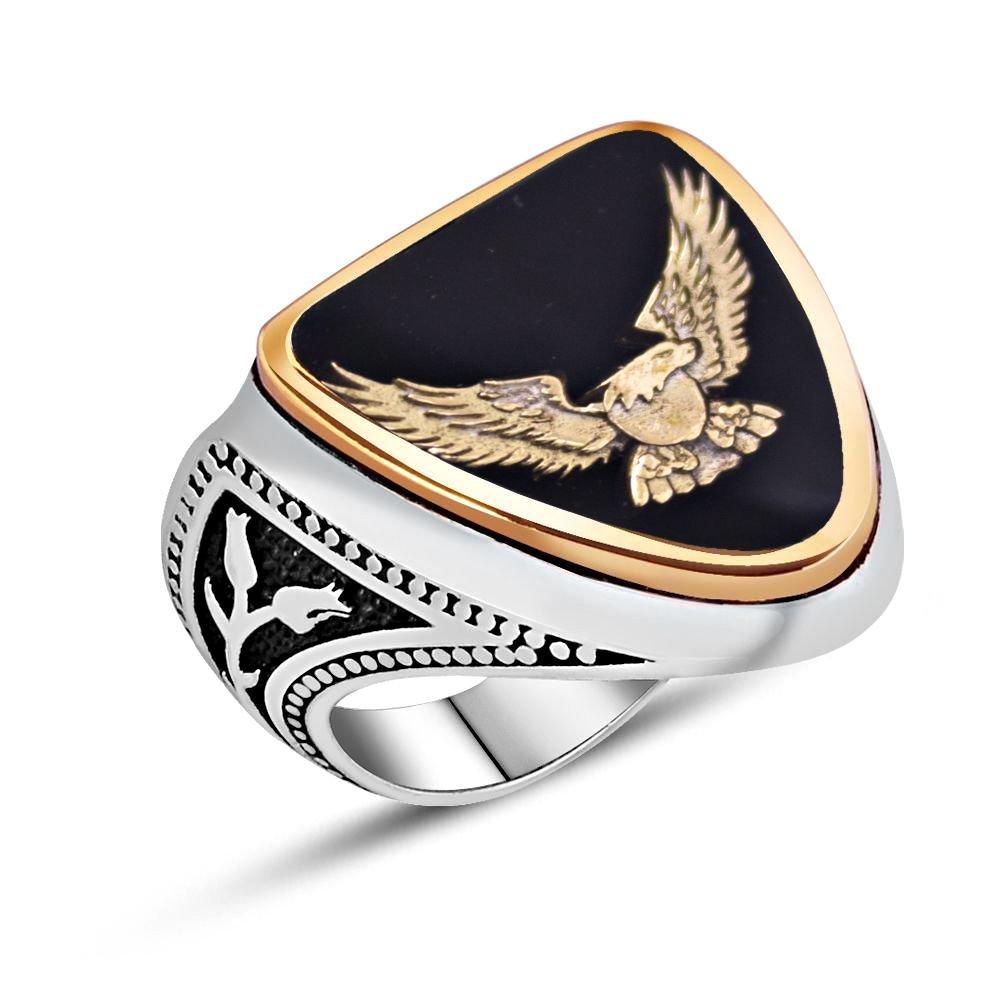 925 Ayar Gümüş Mineli Zihgir Yüzüğü