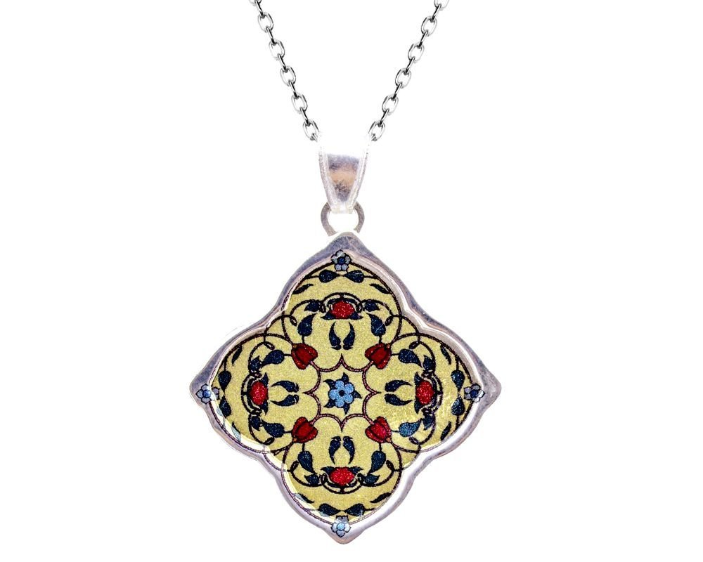 925 Ayar Gümüş Osmanlı Figürü Kolye